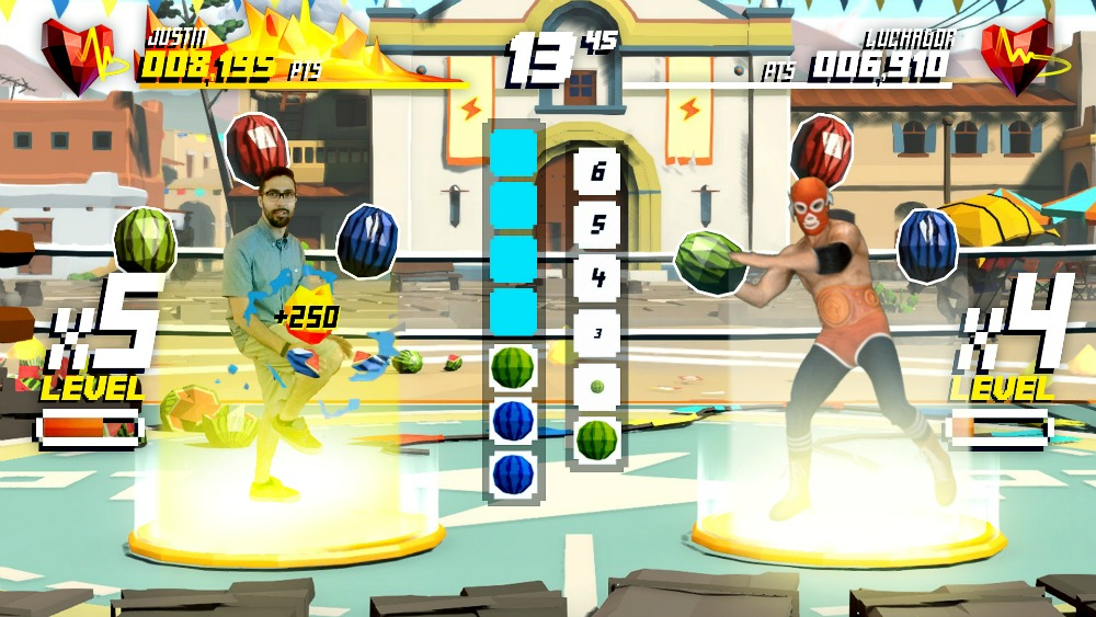 Shape Up: Squat-Wettstreit gegen den Luchador (Bild: Ubisoft)