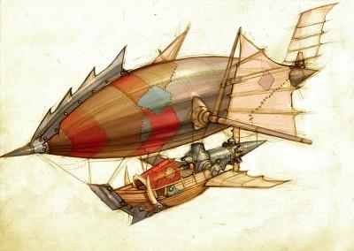 Luftschiff. Artwork aus Wrath of the Lichking Bild: Blizzard