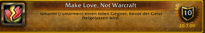 Make Love, Not Warcraft